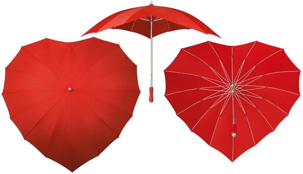 parasol do ślubu SERCE parasolka ŚLUBNA czerwonaXL