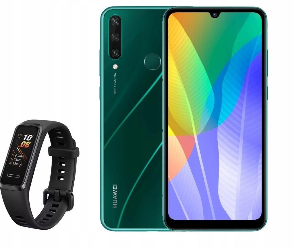 Промо! HUAWEI Y6p 64GB 3GB RAM Зеленый + Smartband