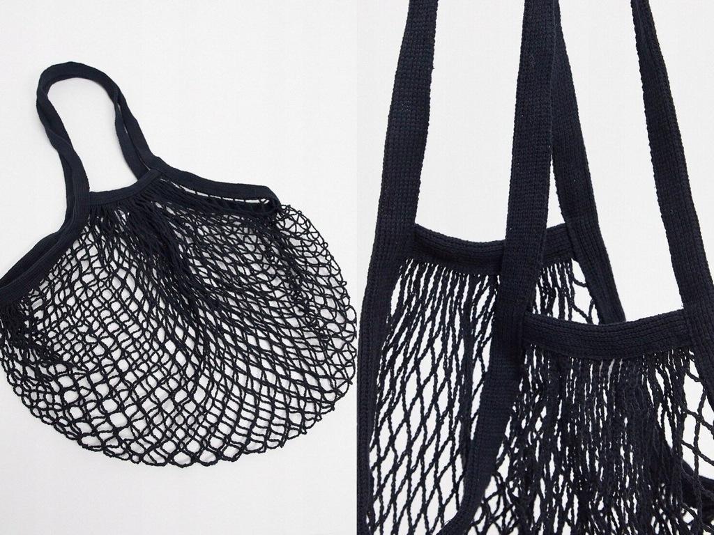 Sass Belle Czarna torba typu shopper ze sznurka
