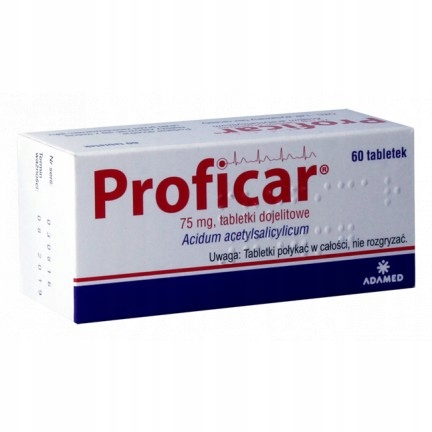Proficar 75 mg 60 tabl serce kwas acetylosalicylow