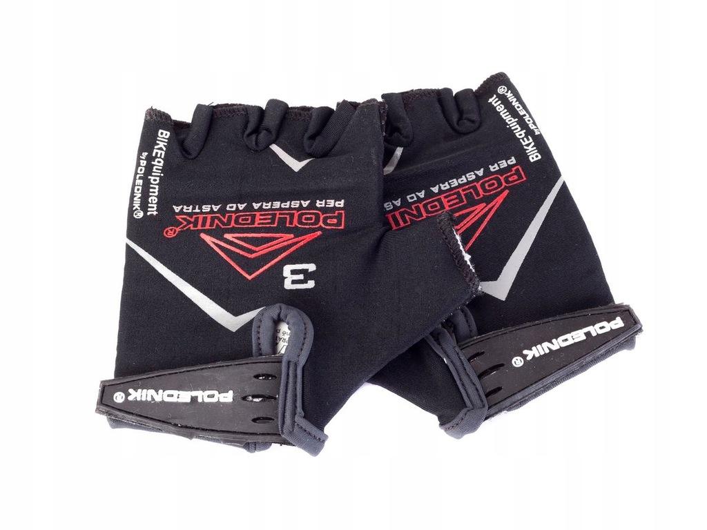 Rękawiczki rowerowe dziecięce F-3 kolor czarny
