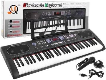 Орган для обучения детей клавиатура с микрофоном