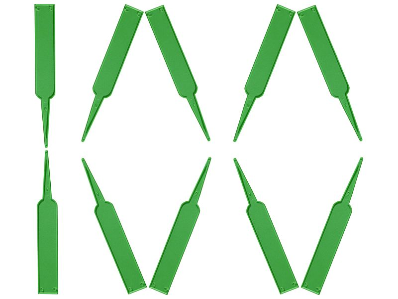 ETYKIETY tabliczki oznaczanie roślin - A zielone